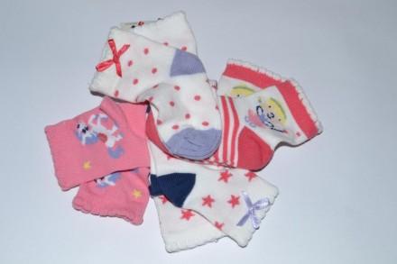 Носки Mothercare new born или от 0 до 3 месяцев для девочки. Чаплинка. фото 1