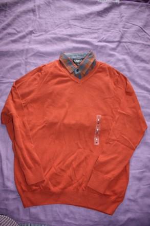 Продам пуловер серый LC Waikiki M - 100% хб терракотовый. Киев. фото 1