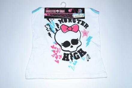 Белье Monster High от Mattel, набор трусы и майка для девочки 8 лет. Чаплинка. фото 1