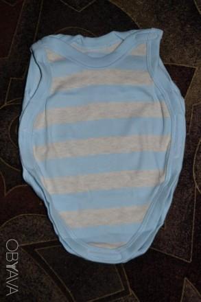 Набор из трёх боди для мальчика с маленьким весом при рождении или для недоношен. Чаплинка. фото 1