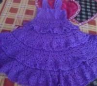 Платье, вязаное крючком. Бердянск. фото 1