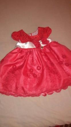 Красивое платье для малышки на 1-2 года. Бердянск. фото 1