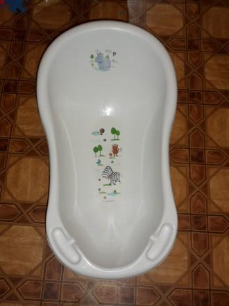 Ванночка Prima-Baby Hippo 84 см белая 8436.91(AB). Херсон. фото 1