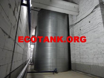 Стальной резервуар для чистой воды 200 м3. Киев. фото 1