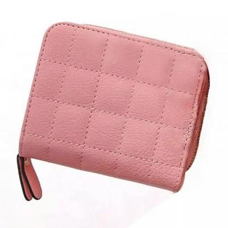 Распродажа! Маленький женский стеганный кошелек, цвет светлый розовый. Киев. фото 1