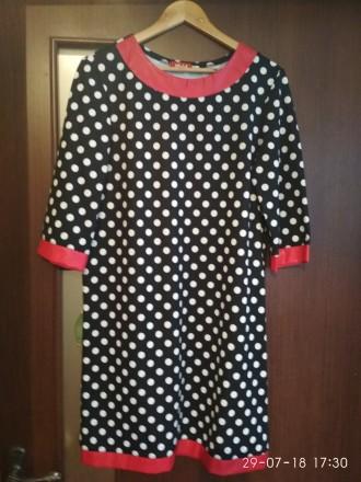 Трикотажное платье с эко-вставками.. Бердянск. фото 1