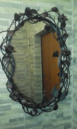 Кованое зеркало. Бахмач. фото 1