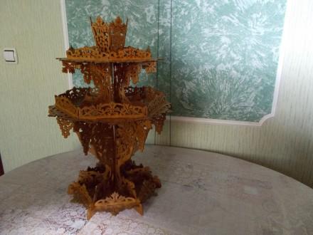 Ваза для фруктов (конфет, печенья) трехъярусная.. Конотоп. фото 1