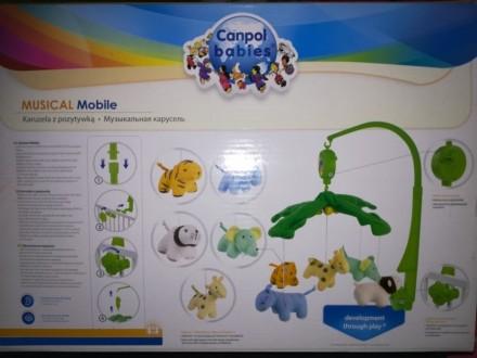 Музыкальный плюшевый мобиль Веселые зверята, Canpol babies. Измаил. фото 1
