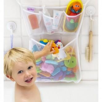 Органайзер для детских игрушек на присосках в ванную. Toys bag Large. Киев. фото 1