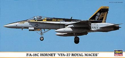 Сборная модель самолета F/A-18C Hornet VFA-27 Hasegawa 1:72. Одесса. фото 1
