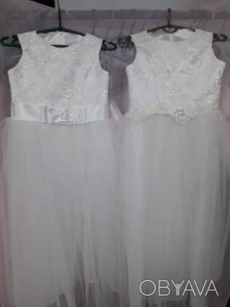 Очень красивое нарядное платье для вашей красавици. Есть в белом и айвори цветах. Черновцы, Черновицкая область. фото 1