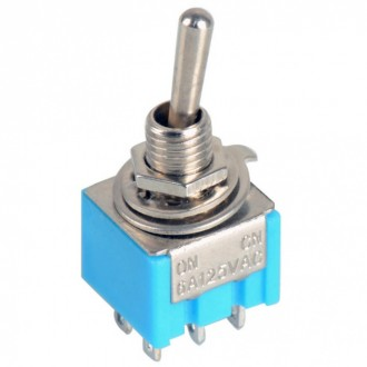 DPDT тумблер, переключатель, toggle switch MTS-202. Кропивницкий. фото 1