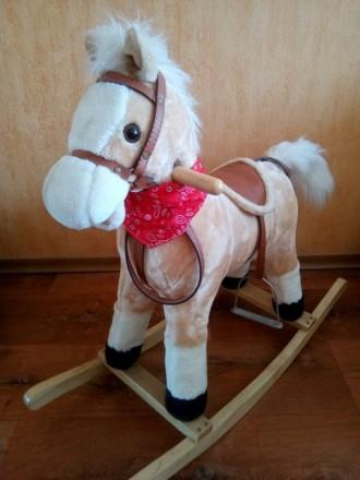 Детская лошадка качалка BT001B музыкальная. Днепр. фото 1