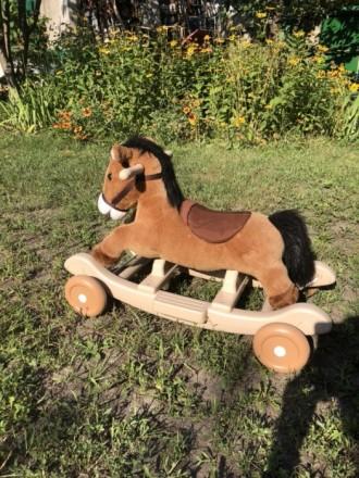 Лошадка каталка-качалка. Днепр. фото 1