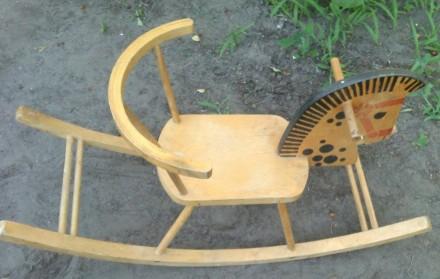 детская лошадка-качалка из времён СССР,б/у. Днепр. фото 1