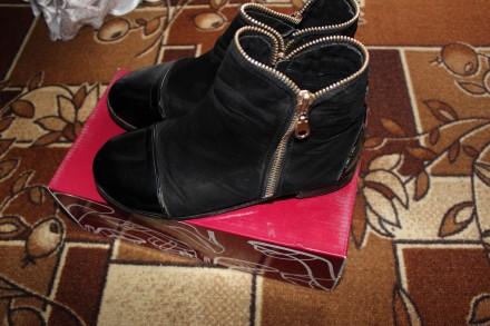 Ботинки девочке деми. Тернополь. фото 1