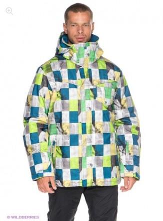Распродажа! Куртка Quiksilver MISSION PRINTED 10K INS JKT Клетка. Киев. фото 1
