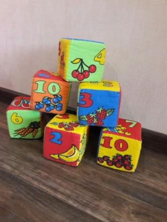 Мягкие кубики 6 шт. Кривой Рог. фото 1