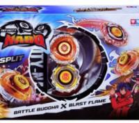 Волчок Auldey Infinity Nado Сплит Battle Buddha и Blast Flame с устройством запу. Днепр. фото 1