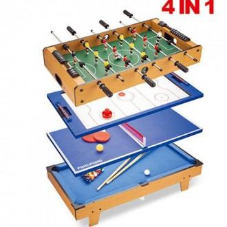 Настольная игра HG207-4 4 в 1. Днепр. фото 1