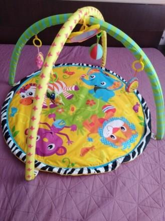 Детский игровой коврик с погремушками в сумке (CARY BEAR). Нетешин. фото 1