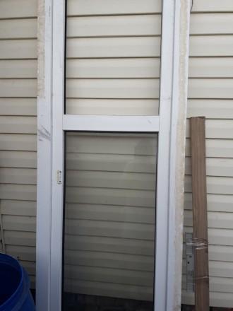Дверь бу металопластик размер720/2222 по коробке  сосьоягие хорошее  торг уместе. Чернигов. фото 1