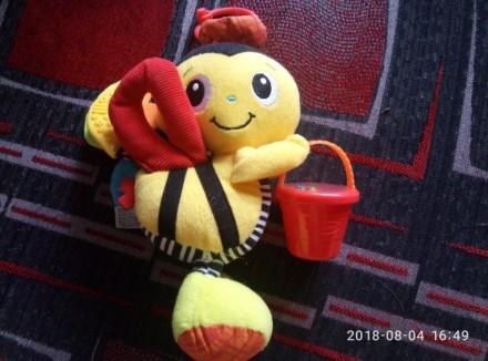 Большая погремушка пчелка. Киев. фото 1