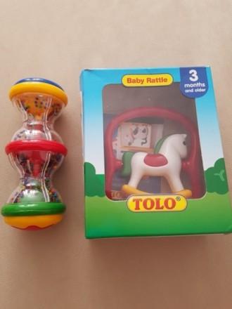Погремушки Tolo: песочные часы, лошадка. Днепр. фото 1