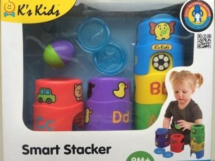 Пирамидка Smart Stacker от K's Kids (Израиль) деткам от 6 мес до 2 лет. Киев. фото 1