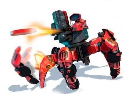 Робот-паук на радиоуправлении Keye Space Warrior красный с лазером. Днепр. фото 1