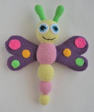 Игрушка-погремушка Бабочка. Борисполь. фото 1