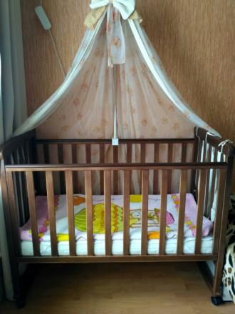 ***Срочно идеальная  детская кроватка +матрас соня