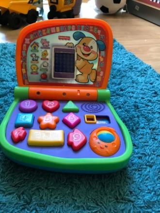 Детский интерактивный ноутбук Fisher Price. Киев. фото 1