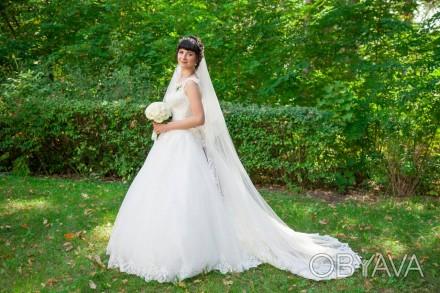 3ae9164fd65248 Продаю весільну сукню 2017 року. Після хімчистки. Сукня сердньої пишноти зі  шле. Києво