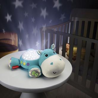 Детский ночник проектор музыкальный Гиппопотам Fisher-Price CGN86. Киев. фото 1