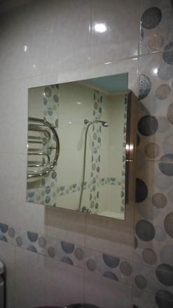 Зеркальный шкафчик в ванную из нержавейки. Харьков. фото 1