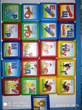 Детские развивающие кубики. Лисичанск. фото 1