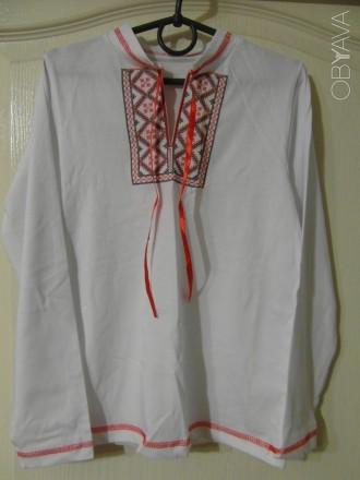 Сорочка вышиванка белая трикотаж 6-7 лет. Киев. фото 1