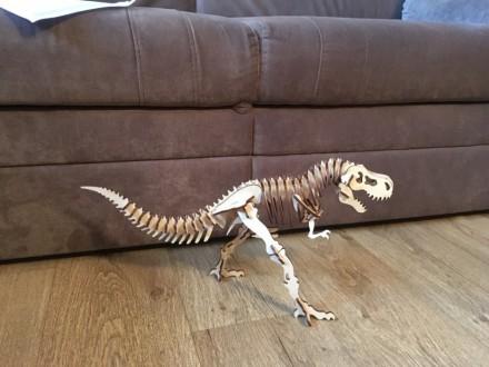 Пазл из фанеры динозавр. Киев. фото 1