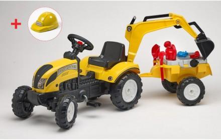 Трактор педальный детский RANCH с прицепом и ковшом Falk 2055N. Киев. фото 1
