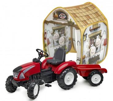 Трактор педальный детский c прицепом Garden Master Falk 3021AT. Киев. фото 1