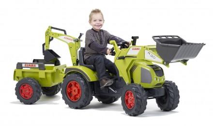 Трактор детский педальный экскаватор CLASS Falk 1010Y. Киев. фото 1