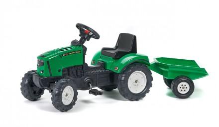 Трактор педальный детский с прицепом Falk 2031A зелёный. Киев. фото 1