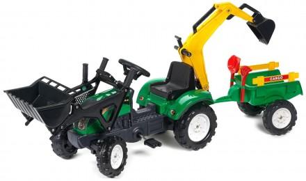 Трактор детский педальный RANCH Falk 2052CN зелёный. Киев. фото 1