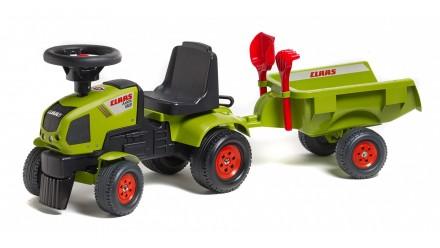 Каталка трактор детская BABY CLAAS AXOS c прицепом Falk 1012C. Киев. фото 1