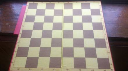доска для игры в шахматы шашки картонная. Киев. фото 1