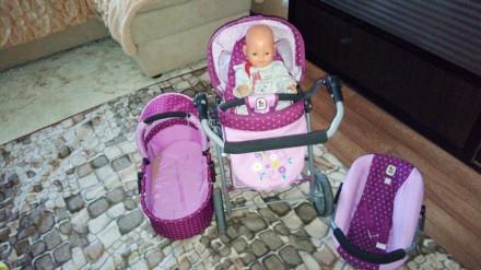 Коляска для кукол детская 3в1. Кривий Ріг. фото 1