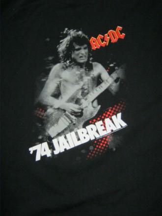 Футболка  AC/DC '74 Jailbreak. Кривой Рог. фото 1