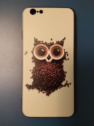 чехол для iphone 6 iphone 6s айфон панель бампер с принтом котик сова. Ивано-Франковск. фото 1